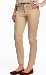 OLD NAVY•Mid-Rise Pixie Ankle Pants/Rolled Oats/4